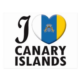 Amor de las islas Canarias Postal