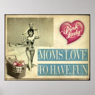 Amor de las mamáes para divertirse póster