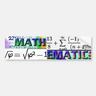 ¡ AMOR de las Matemáticas-GOTTA ÉL Etiqueta De Parachoque