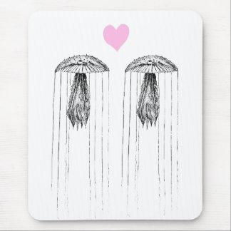 Amor de las medusas alfombrillas de ratón