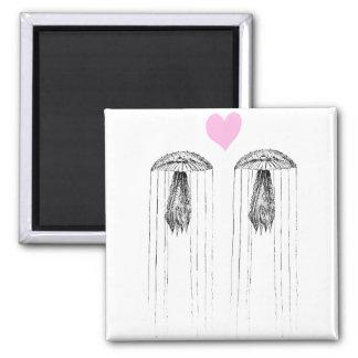 Amor de las medusas imanes para frigoríficos