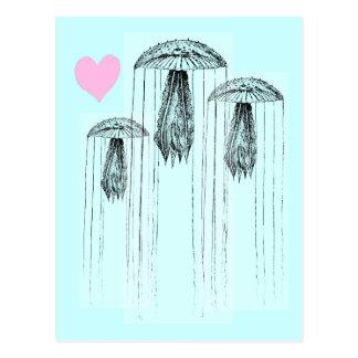 Amor de las medusas postales