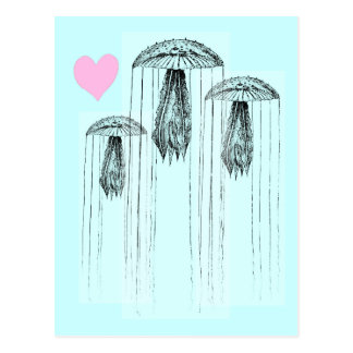 Amor de las medusas postal