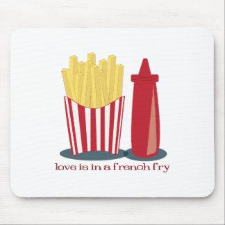 Amor de las patatas fritas alfombrillas de ratón