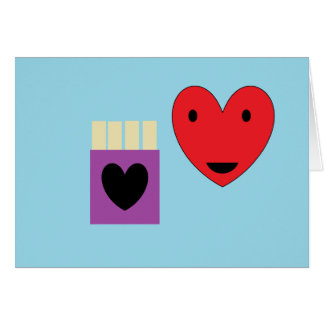 Amor de las patatas fritas tarjeta de felicitación