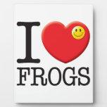 Amor de las ranas placas para mostrar