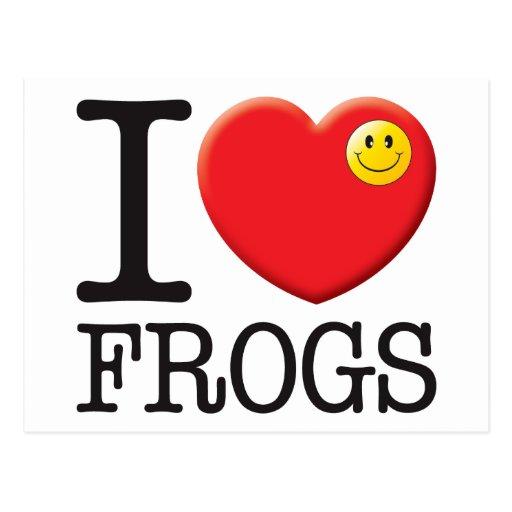 Amor de las ranas postales