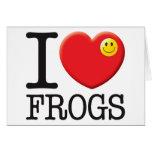 Amor de las ranas tarjetón