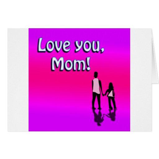 ¡Amor de las rosas fuertes usted mamá! Diseño Tarjeta De Felicitación
