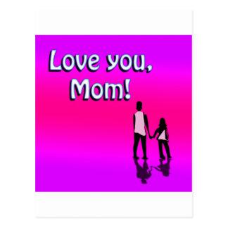 ¡Amor de las rosas fuertes usted mamá! Diseño Postales