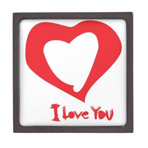 amor de las tarjetas del día de San Valentín Cajas De Joyas De Calidad