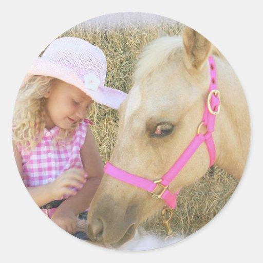 Amor de las vaqueras de Lil Etiqueta Redonda