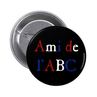 Amor de Les Misérables Ami de l ABC Button Pin
