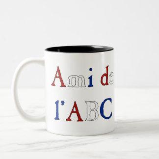 Amor de Les Misérables: Ami de l'ABC Mug tricolora Taza De Café De Dos Colores