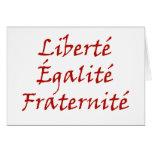 Amor de Les Misérables: Liberté, Égalité, Fraterni Felicitaciones