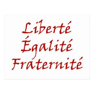 Amor de Les Misérables Liberté Égalité Fraterni Tarjetas Postales