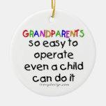 Amor de los abuelos adorno para reyes