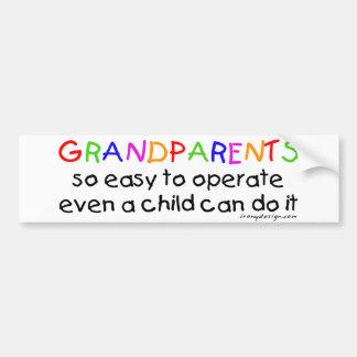 Amor de los abuelos pegatina para auto