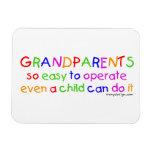 Amor de los abuelos imanes rectangulares