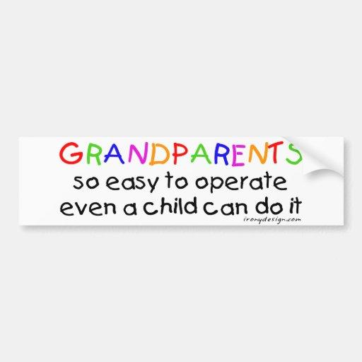Amor de los abuelos pegatina de parachoque