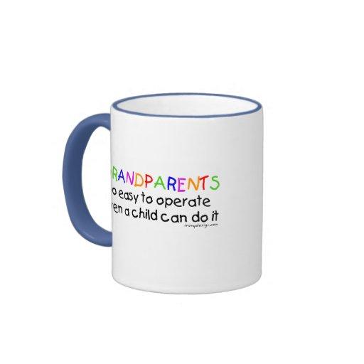 Amor de los abuelos taza de café