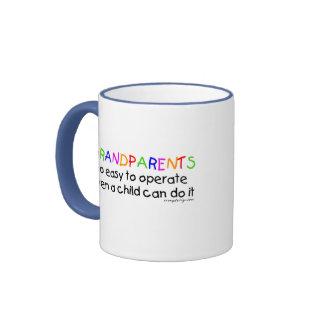 Amor de los abuelos taza de dos colores