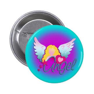 Amor de los ángeles pin redondo de 2 pulgadas