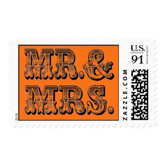 Amor de los bodas de la calabaza más pesado sello postal