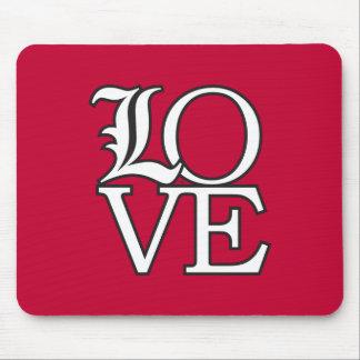 Amor de los cardenales de Louisville Alfombrillas De Raton