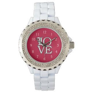 Amor de los cardenales de Louisville Reloj De Mano
