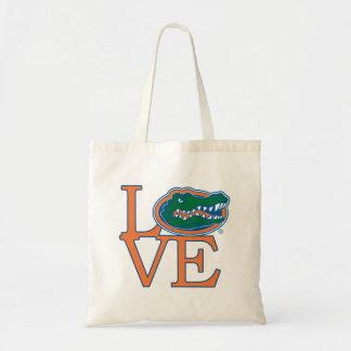 Amor de los cocodrilos de la Florida Bolsa Tela Barata