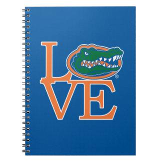 Amor de los cocodrilos de la Florida Note Book