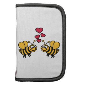 Amor de los corazones de las abejas planificadores
