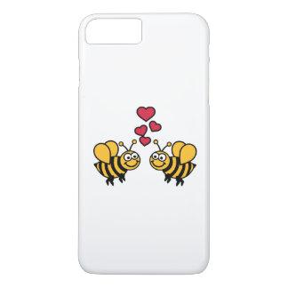 Amor de los corazones de las abejas funda iPhone 7 plus