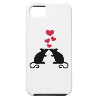 Amor de los corazones del ratón de los ratones iPhone 5 Case-Mate funda