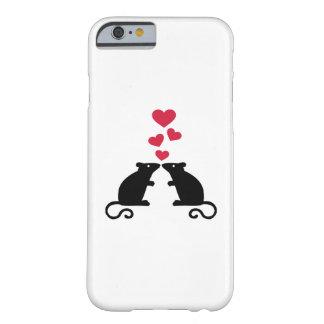 Amor de los corazones del ratón de los ratones funda de iPhone 6 barely there