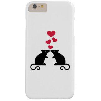 Amor de los corazones del ratón de los ratones funda de iPhone 6 plus barely there