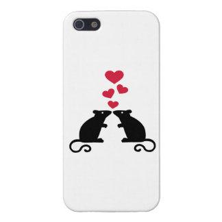 Amor de los corazones del ratón de los ratones iPhone 5 fundas