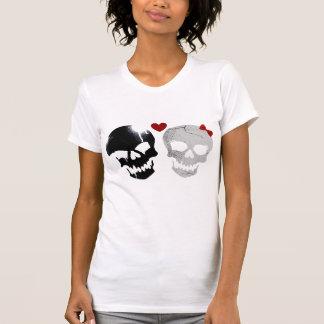 Amor de los cráneos camisetas