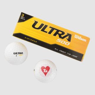 Amor de los diseños de la pelota de golf de los pack de pelotas de golf