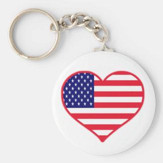 Amor de los E.E.U.U. Llavero Redondo Tipo Pin