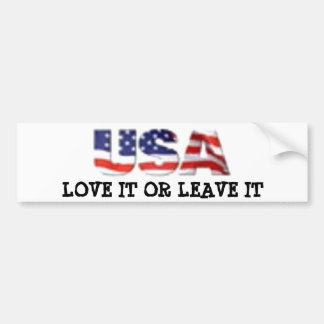 Amor de los E.E.U.U. o lo deja Pegatina Para Auto