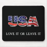 Amor de los E.E.U.U. o lo deja Alfombrillas De Ratón