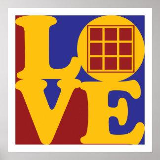 Amor de los edredones poster