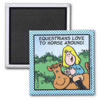 Amor de los Equestrians a… Imán Cuadrado