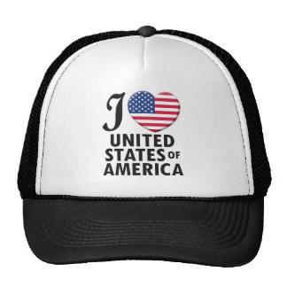 Amor de los Estados Unidos de América Gorras