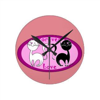 Amor de los gatos relojes