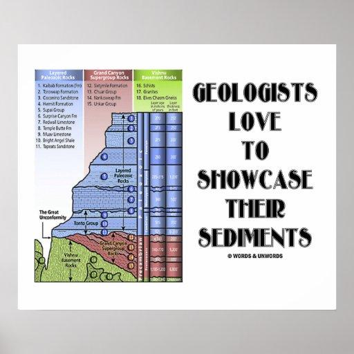 Amor de los geólogos para mostrar sus sedimentos póster