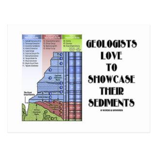 Amor de los geólogos para mostrar sus sedimentos postal