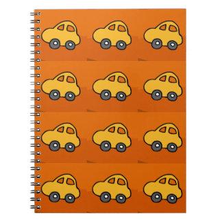 AMOR de los niños: Mini mini coches del juguete Libros De Apuntes Con Espiral